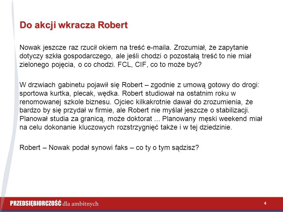 Do akcji wkracza Robert Nowak jeszcze raz rzucił okiem na treść e-maila.