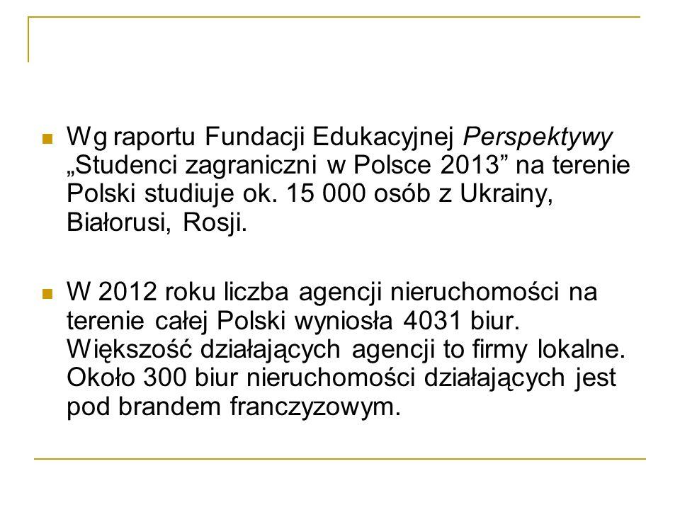 """Wg raportu Fundacji Edukacyjnej Perspektywy """"Studenci zagraniczni w Polsce 2013"""" na terenie Polski studiuje ok. 15 000 osób z Ukrainy, Białorusi, Rosj"""