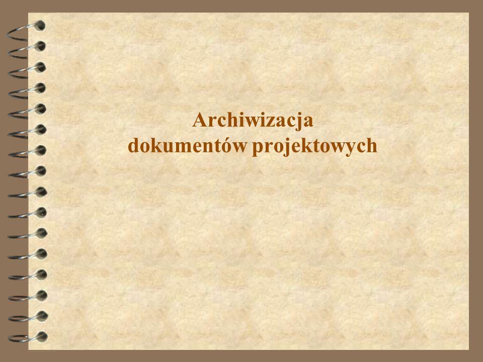 Archiwizacja dokumentów projektowych