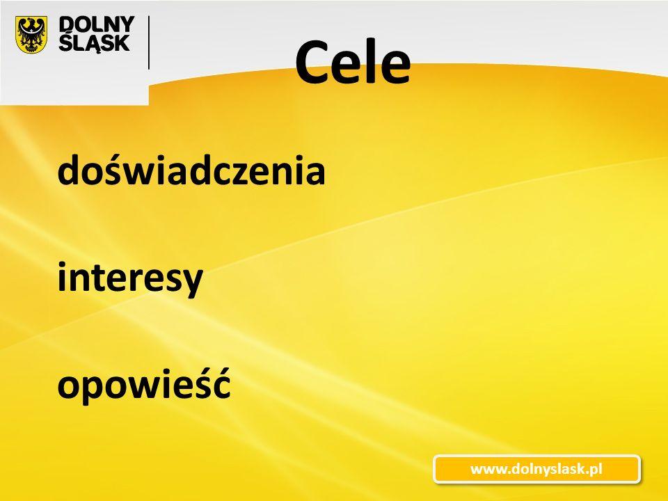 3 www.dolnyslask.pl doświadczenia interesy opowieść Cele