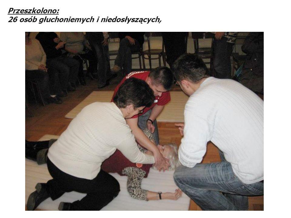 Przeszkolono: 26 osób głuchoniemych i niedosłyszących,