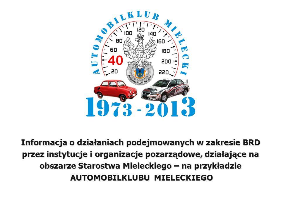 Informacja o działaniach podejmowanych w zakresie BRD przez instytucje i organizacje pozarządowe, działające na obszarze Starostwa Mieleckiego – na pr