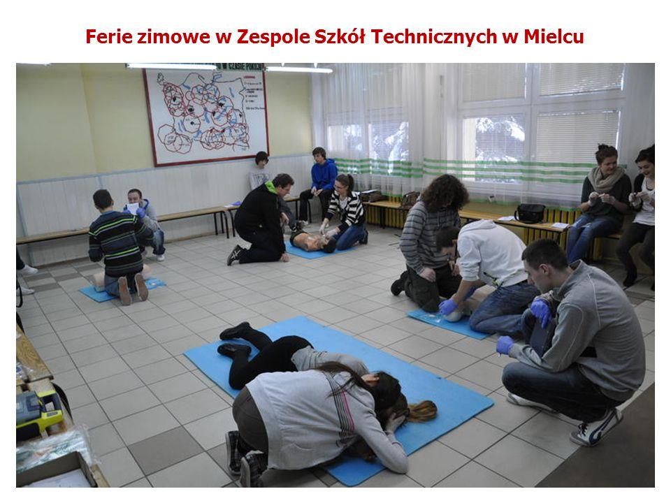 Ferie zimowe w Zespole Szkół Technicznych w Mielcu