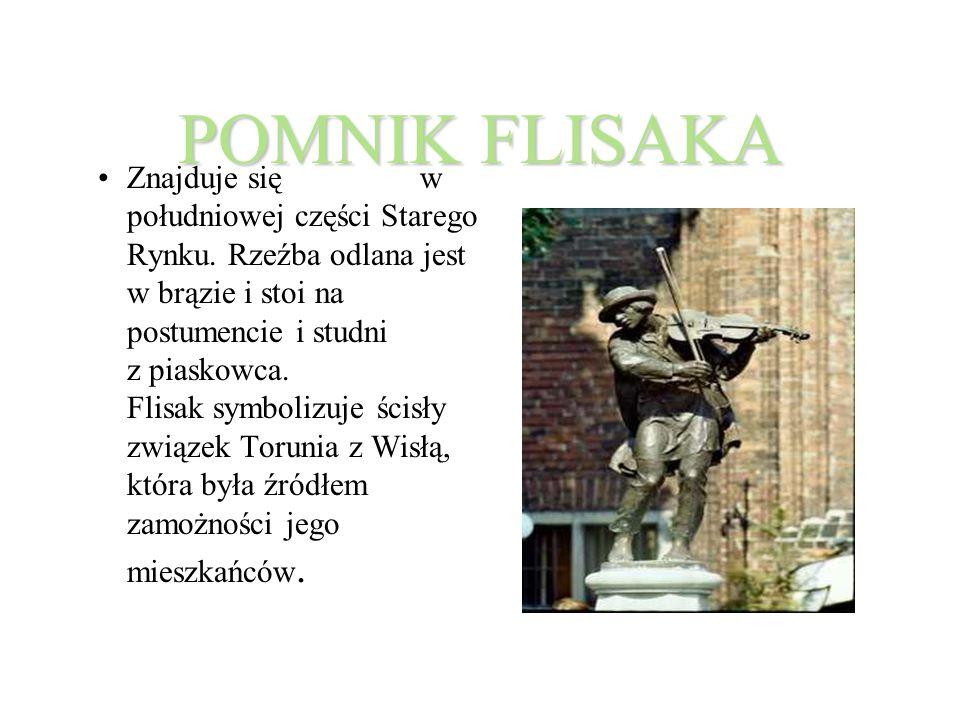 POMNIK FLISAKA Znajduje się w południowej części Starego Rynku.