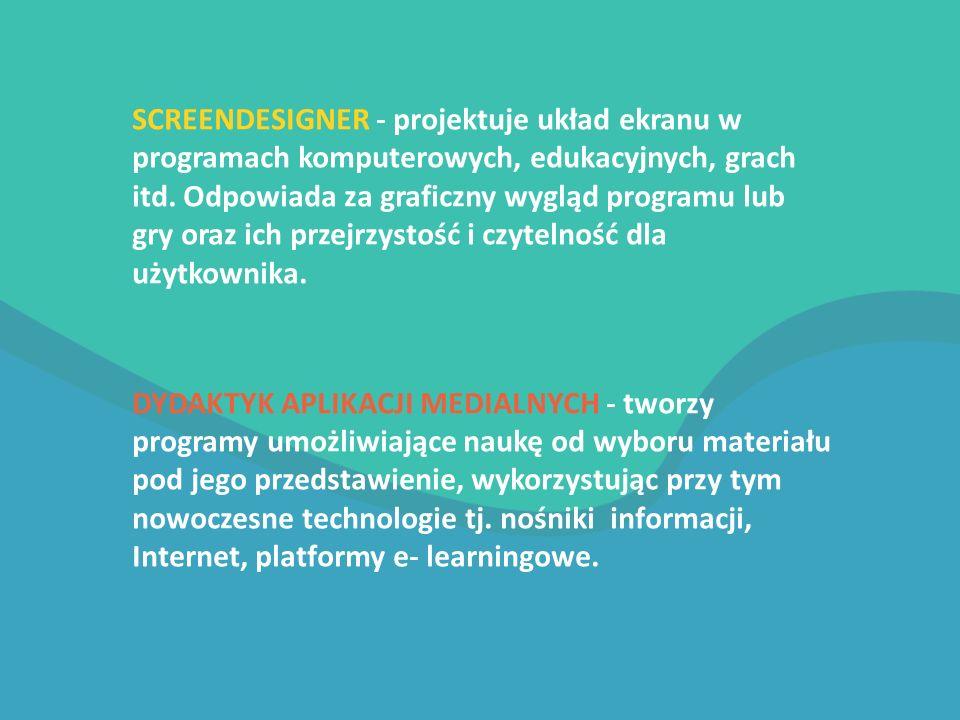 SCREENDESIGNER - projektuje układ ekranu w programach komputerowych, edukacyjnych, grach itd.