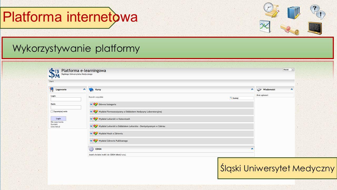 Platforma internetowa Wykorzystywanie platformy Śląski Uniwersytet Medyczny