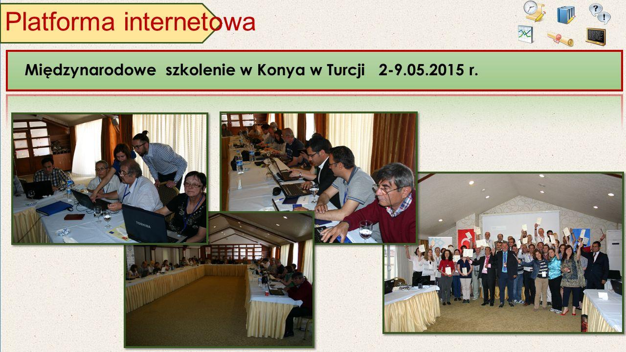 Platforma internetowa Międzynarodowe szkolenie w Konya w Turcji 2-9.05.2015 r.
