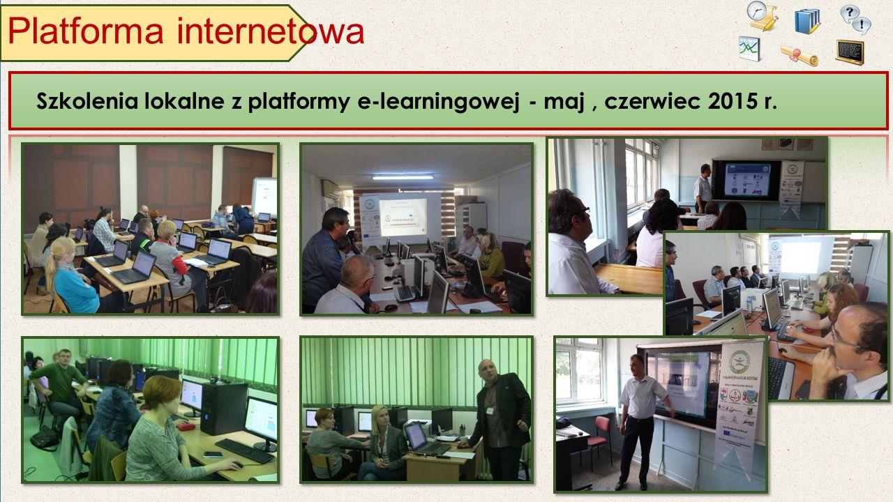Platforma internetowa Szkolenia lokalne z platformy e-learningowej - maj, czerwiec 2015 r.
