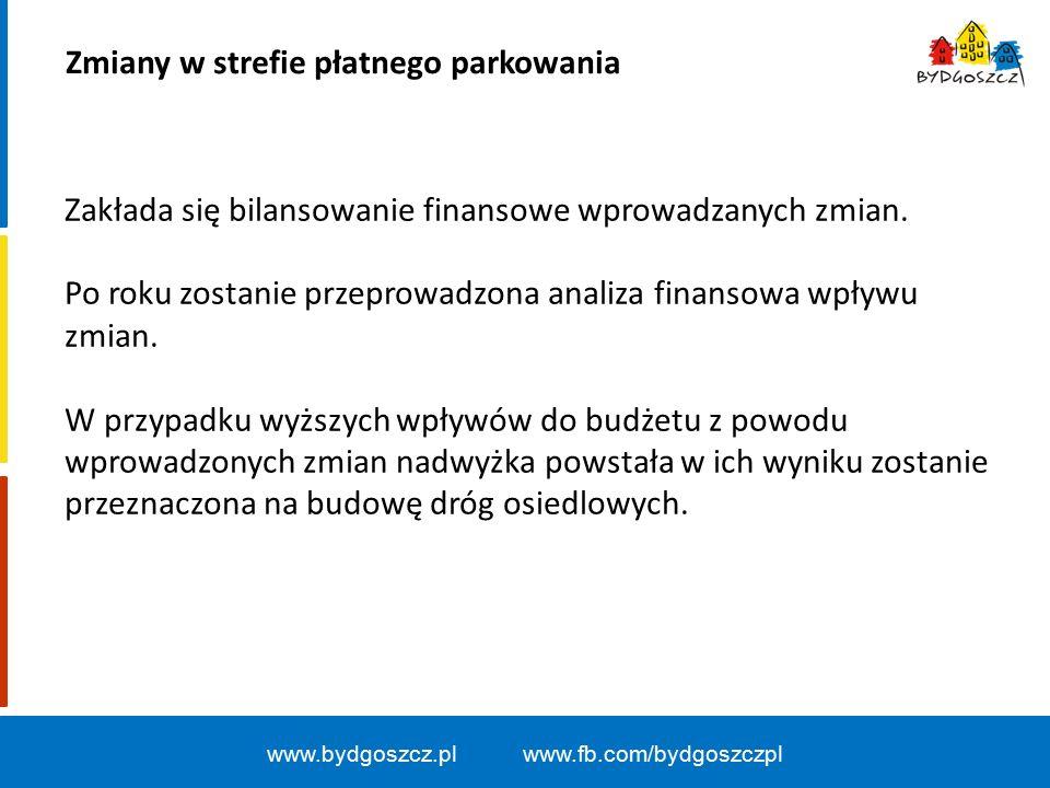www.bydgoszcz.pl www.fb.com/bydgoszczpl Zakłada się bilansowanie finansowe wprowadzanych zmian.