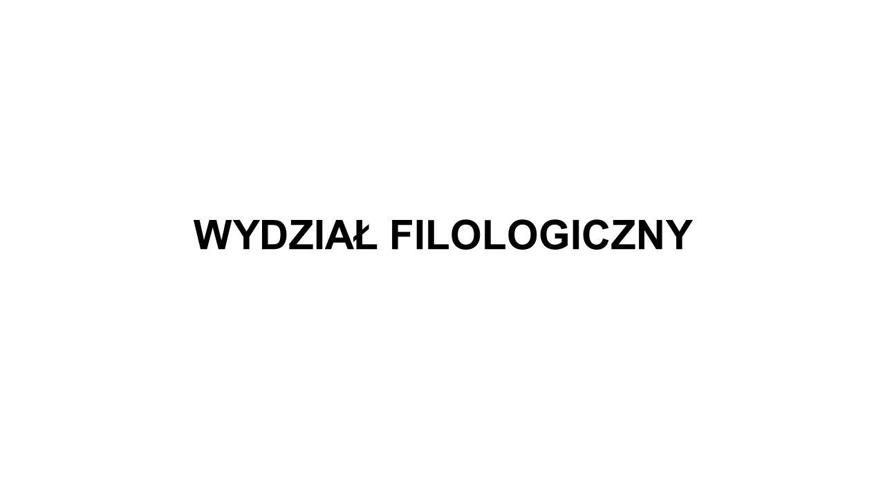 WYDZIAŁ FILOLOGICZNY