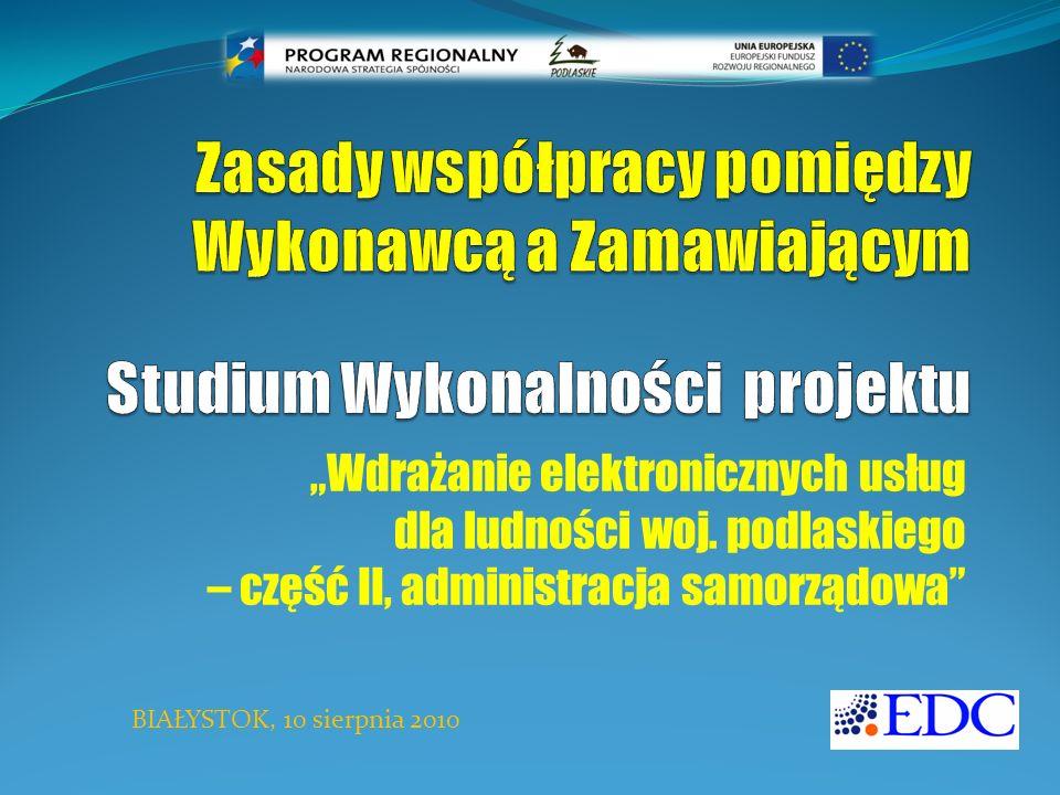 """""""Wdrażanie elektronicznych usług dla ludności woj."""