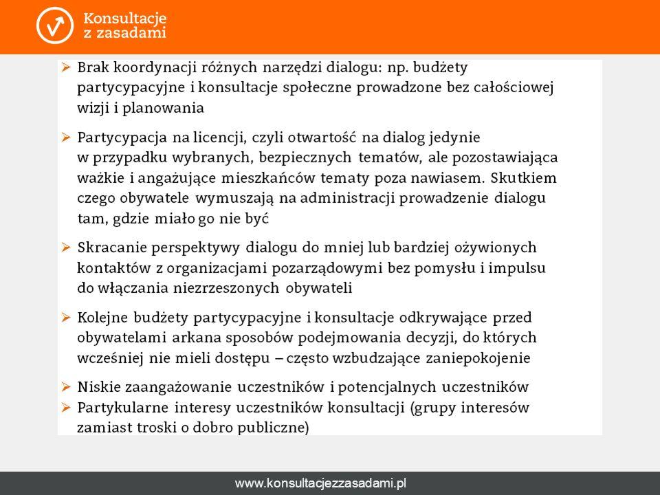 www.konsultacjezzasadami.pl Wyzwania