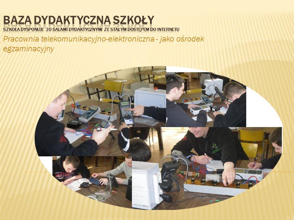 Pracownia telekomunikacyjno-elektroniczna - jako ośrodek egzaminacyjny