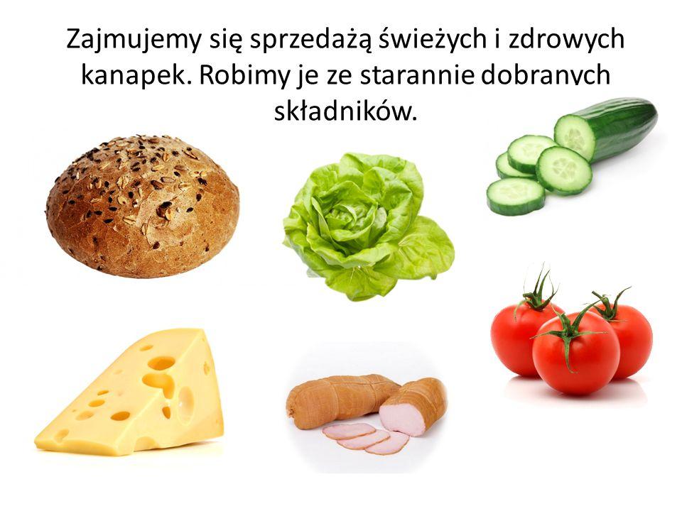 Zajmujemy się sprzedażą świeżych i zdrowych kanapek. Robimy je ze starannie dobranych składników.