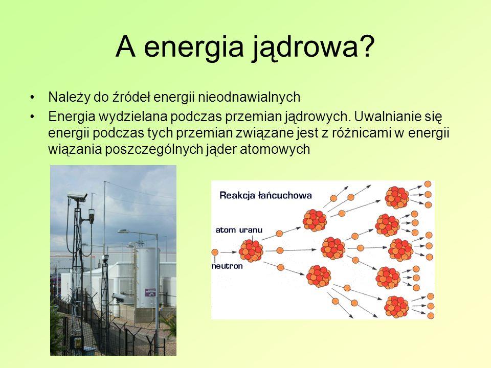 A energia jądrowa.