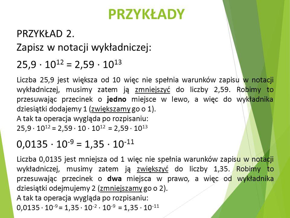 PRZYKŁADY PRZYKŁAD 2.