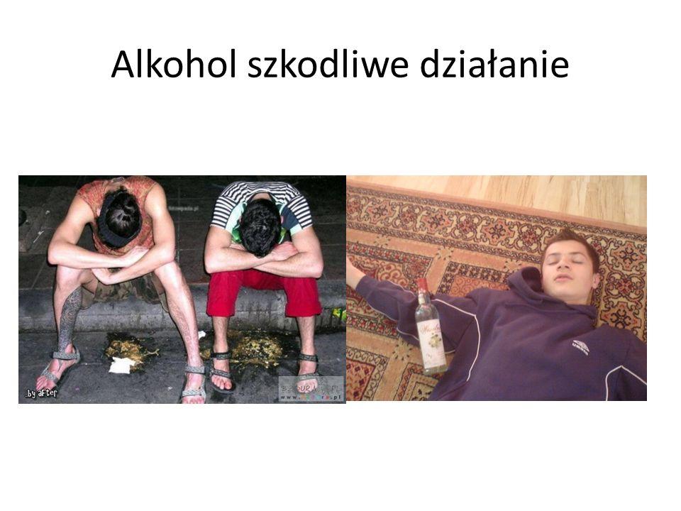 Alkohol szkodliwe działanie