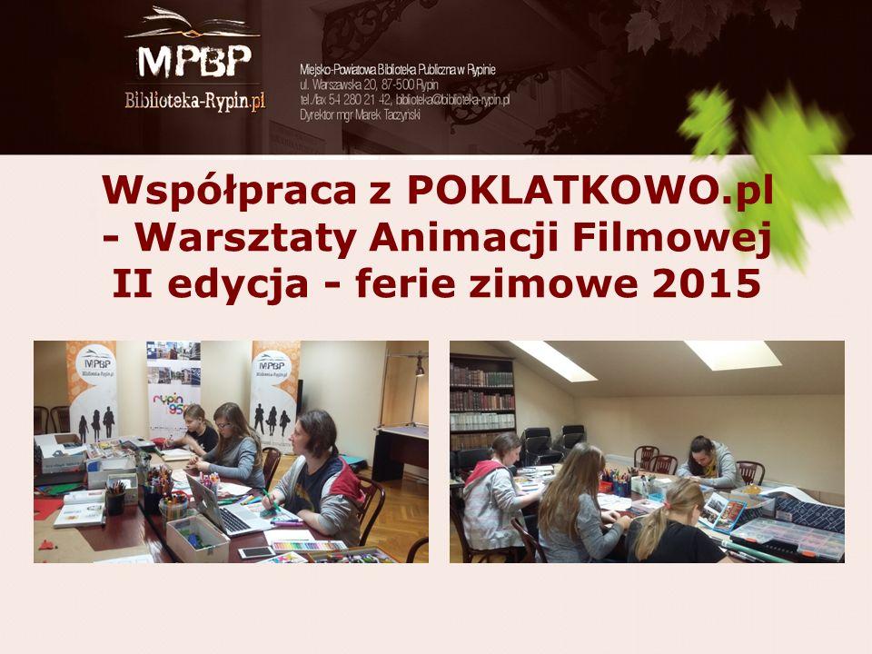 Współpraca z POKLATKOWO.pl - Warsztaty Animacji Filmowej II edycja - ferie zimowe 2015