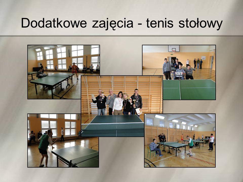 Dodatkowe zajęcia - tenis stołowy