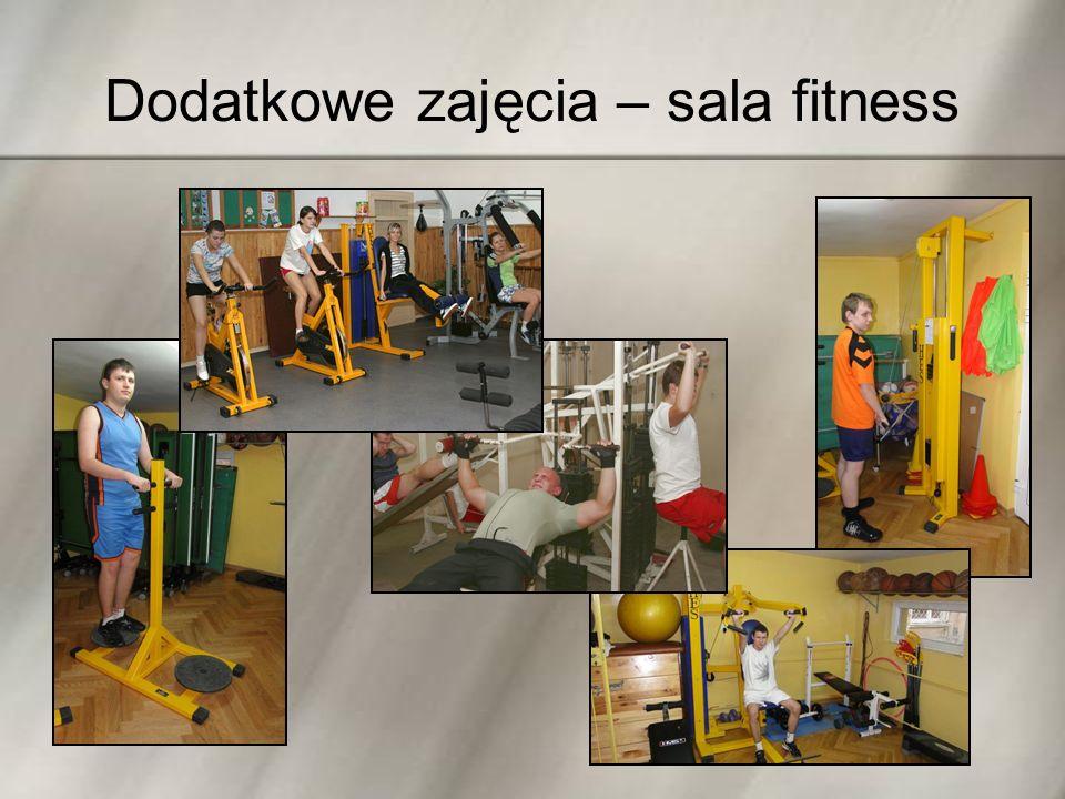 Dodatkowe zajęcia – sala fitness