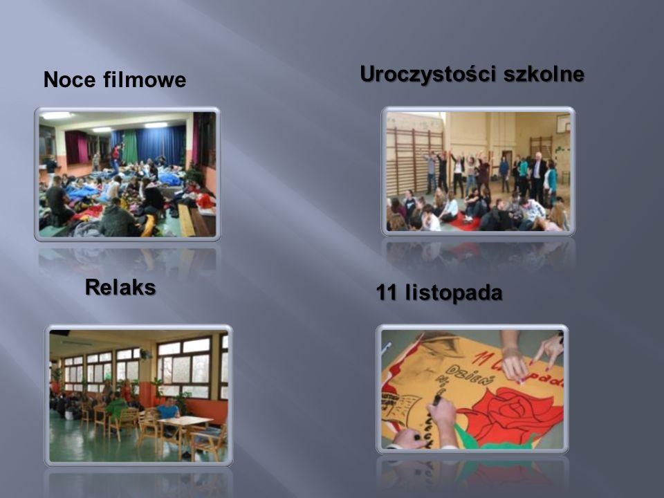 Noce filmowe Uroczystości szkolne Relaks 11 listopada