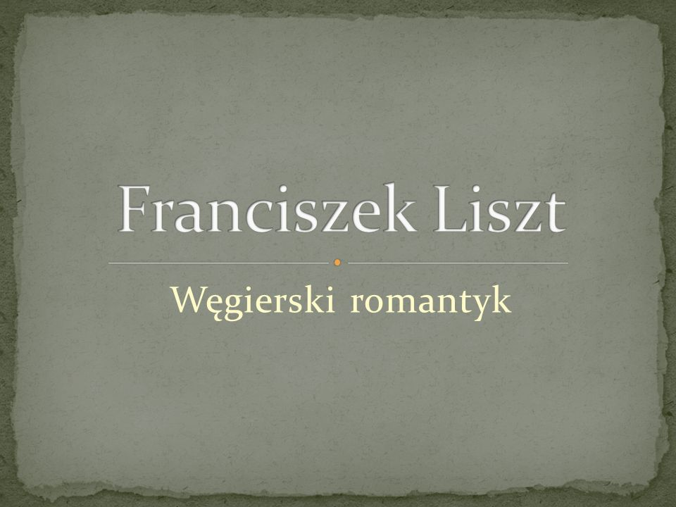 Węgierski romantyk