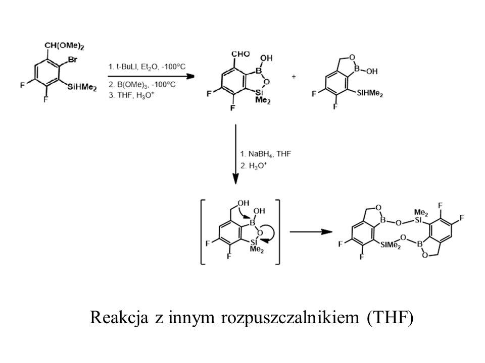 Reakcja z innym rozpuszczalnikiem (THF)