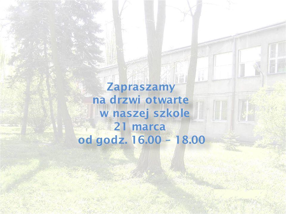 Zapraszamy na drzwi otwarte w naszej szkole 21 marca od godz.