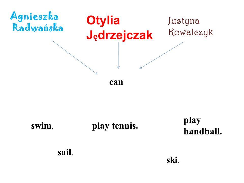 Agnieszka Radwa ń ska Otylia J ę drzejczak Justyna Kowalczyk can swim.