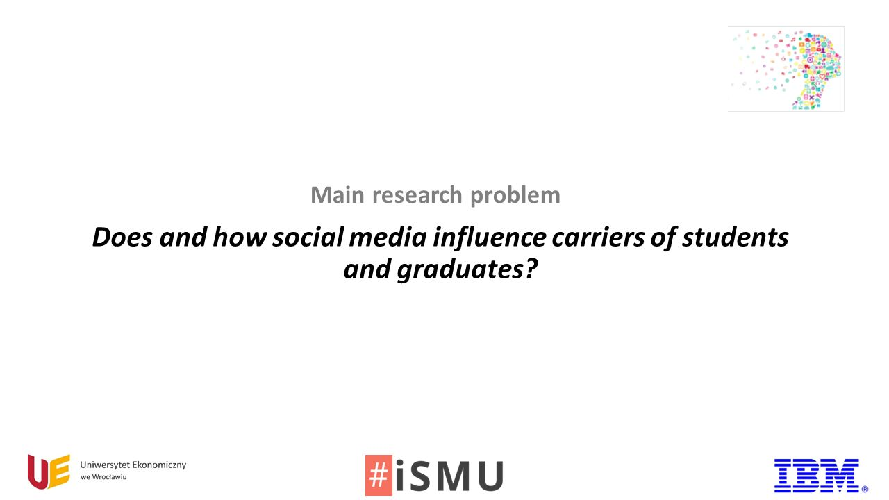 Does and how social media influence carriers of students and graduates Main research problem
