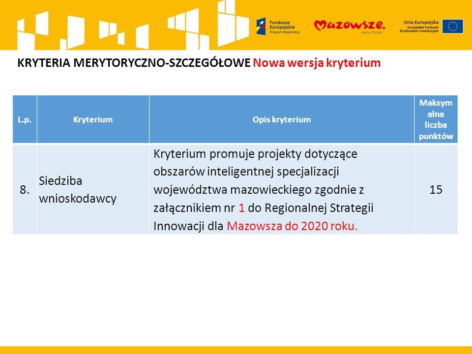 L.p.KryteriumOpis kryterium Maksym alna liczba punktów 8.