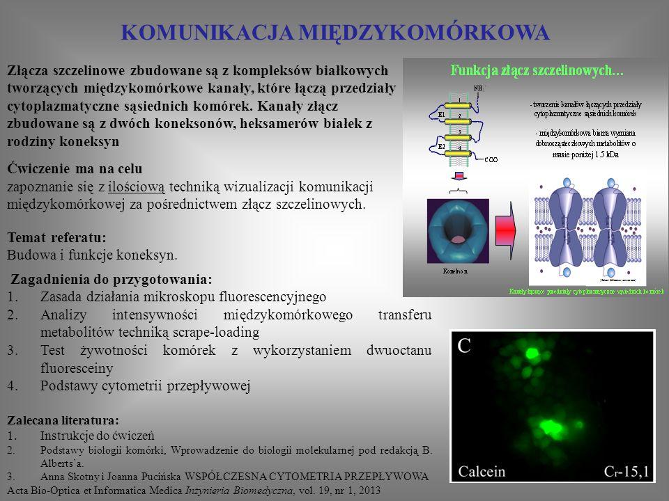 """WIZUALIZACJA I ANALIZA PROCESÓW BIOLOGICZNYCH Z WYKORZYSTANIEM ZAUTOMATYZOWANEGO MIKROSKOPU FLUORESCENCYJNEGO LEICA DMI 6000B Zakład Biologii Komórki, WBBiB UJ """" The Faculty of Biochemistry, Biophysics and Biotechnology of the Jagiellonian University is a beneficient of the structural funds from the European Union (grant No: POIG.02.01.00-12-064/08 — Molecular biotechnology for health ) Ćwiczenie ma na celu: 1.Zapoznanie się z metodą całkowitego odbicia wewnętrznego fluorescencji (TIRF) 2.Wizualizację białek cytoszkieletu komórek Zagadnienia do przygotowania: 1.Mikroskopia fluorescencyjna 2.TIRF Zalecana literatura: 1.http://www.microscopyu.com/articles/fluor escence/tirf/tirfintro.html"""