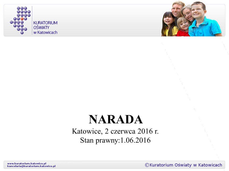 NARADA Katowice, 2 czerwca 2016 r. Stan prawny:1.06.2016