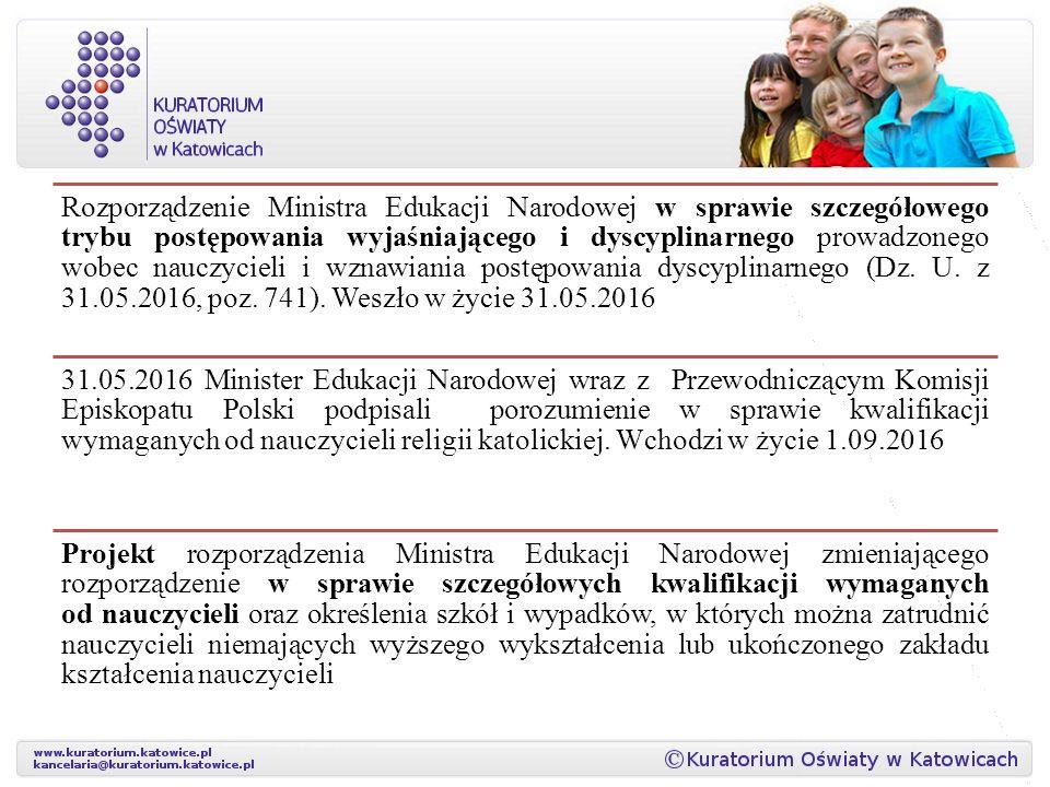 Rozporządzenie Ministra Edukacji Narodowej w sprawie szczegółowego trybu postępowania wyjaśniającego i dyscyplinarnego prowadzonego wobec nauczycieli i wznawiania postępowania dyscyplinarnego (Dz.