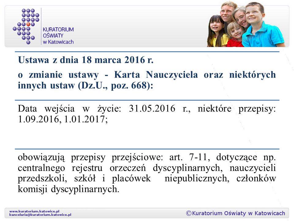 Ustawa z dnia 18 marca 2016 r.