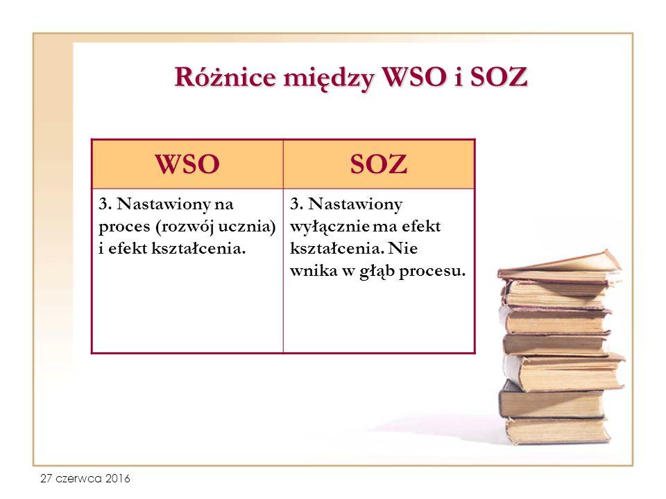 27 czerwca 2016 Różnice między WSO i SOZ WSOSOZ 3.