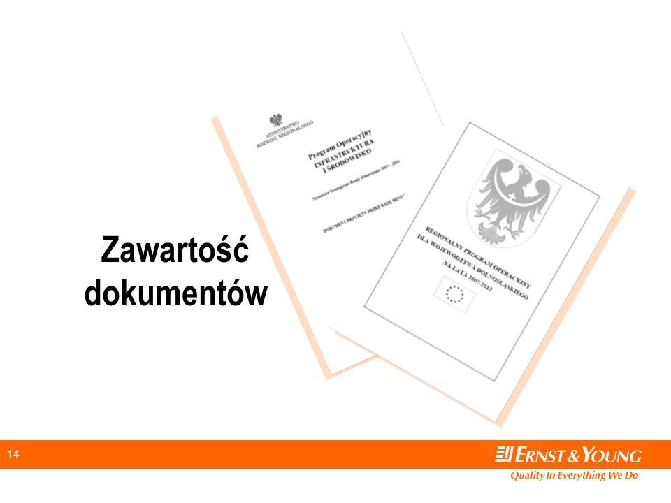 14 Zawartość dokumentów