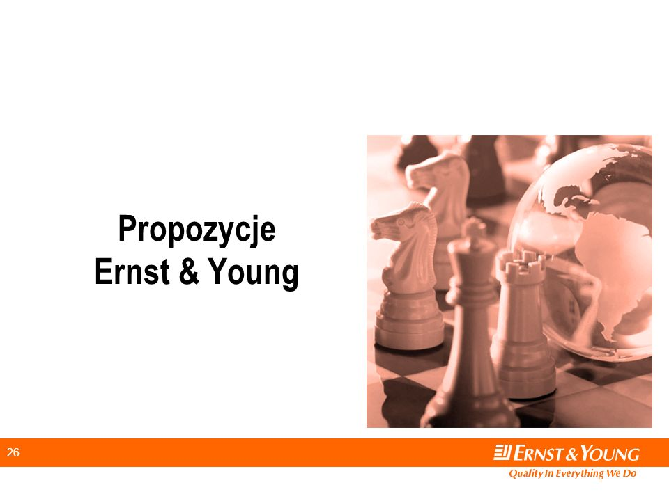 26 Propozycje Ernst & Young