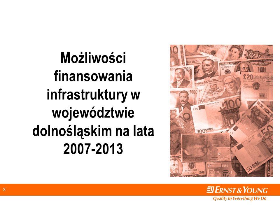 3 Możliwości finansowania infrastruktury w województwie dolnośląskim na lata 2007-2013