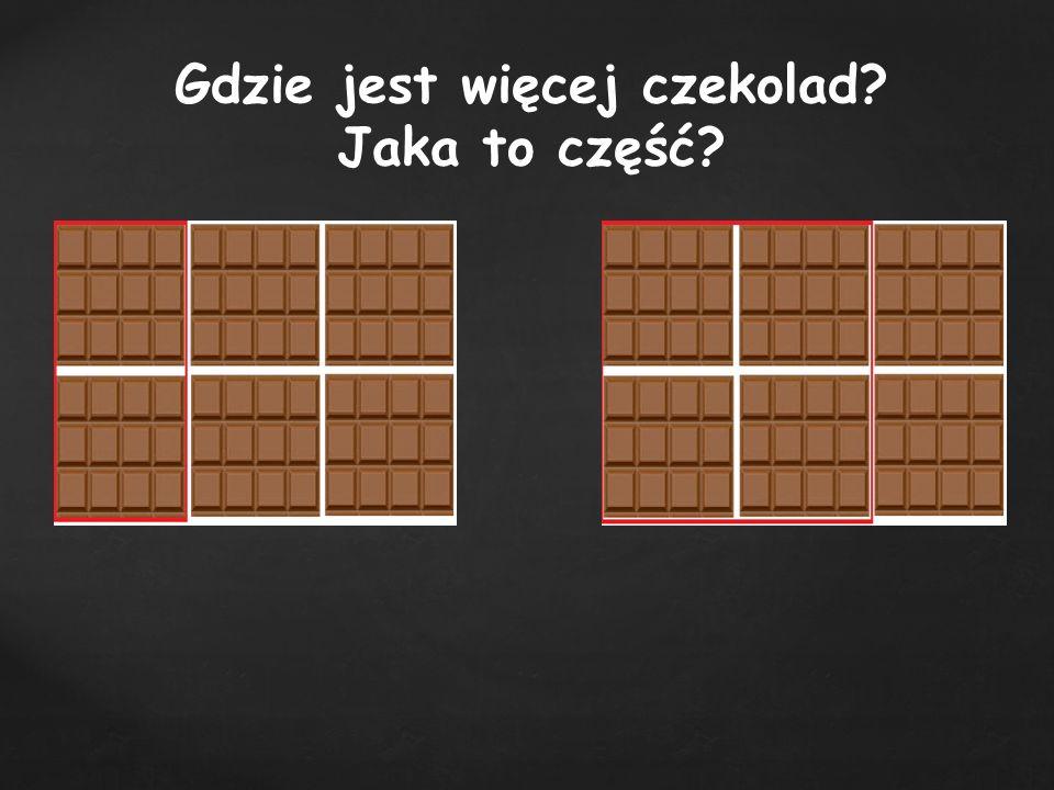 Która część czekolady jest większa?