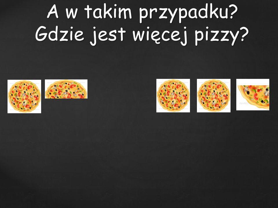 A w takim przypadku Gdzie jest więcej pizzy