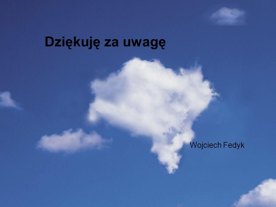 Wstep Dziękuję za uwagę Wojciech Fedyk