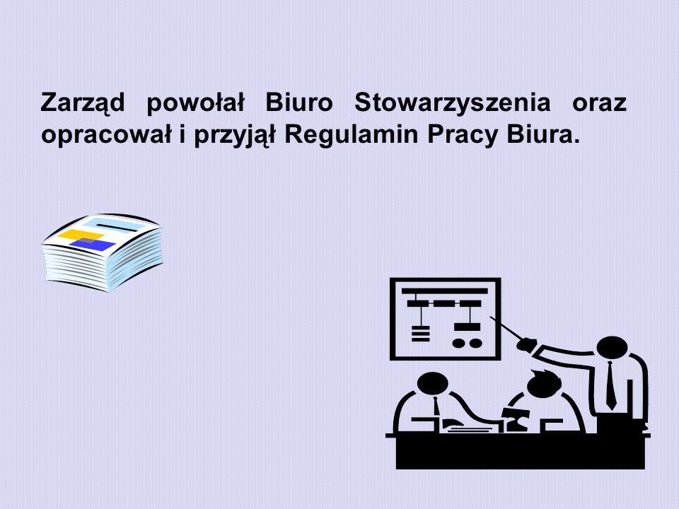 Zarząd powołał Biuro Stowarzyszenia oraz opracował i przyjął Regulamin Pracy Biura.