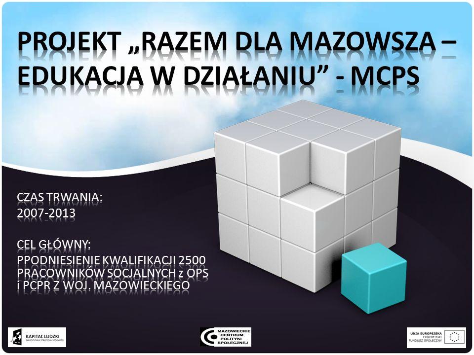 PROJEKTY SYSTEMOWE PCPR 42 LICZBA PCPR REALIZUJĄCYCH PROJEKTY SYSTEMOWE W LATACH 2007-2012 (co najmniej 1 raz) 30 LICZBA PROJEKTÓW ROZPOCZĘTYCH W 2012