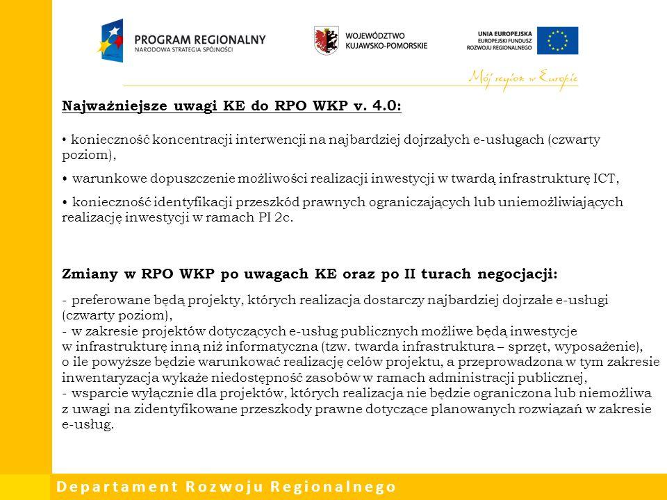 Departament Rozwoju Regionalnego OŚ PRIORYTETOWA 3.