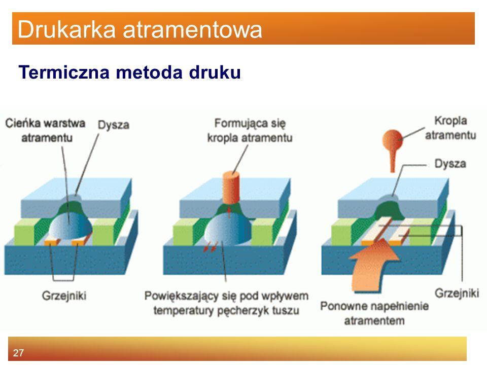 27 Drukarka atramentowa Termiczna metoda druku
