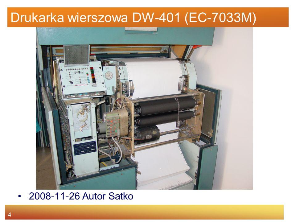 4 Drukarka wierszowa DW-401 (EC-7033M) 2008-11-26 Autor Satko