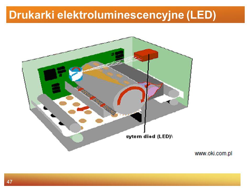 47 Drukarki elektroluminescencyjne (LED)