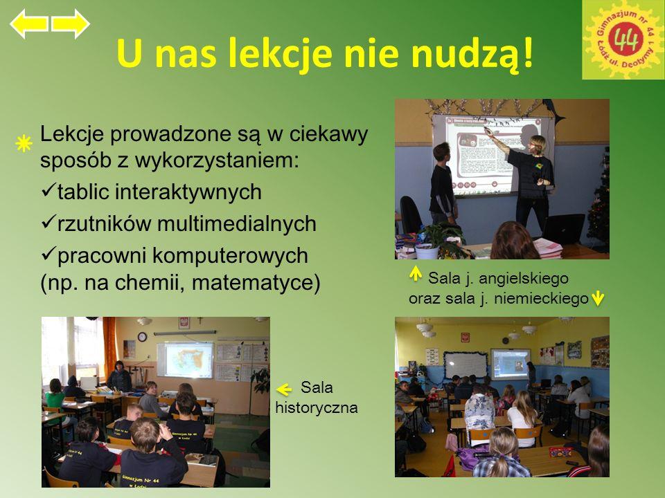Sale lekcyjne J. angielski Geografia Historia Informatyka Muzyka J. polski