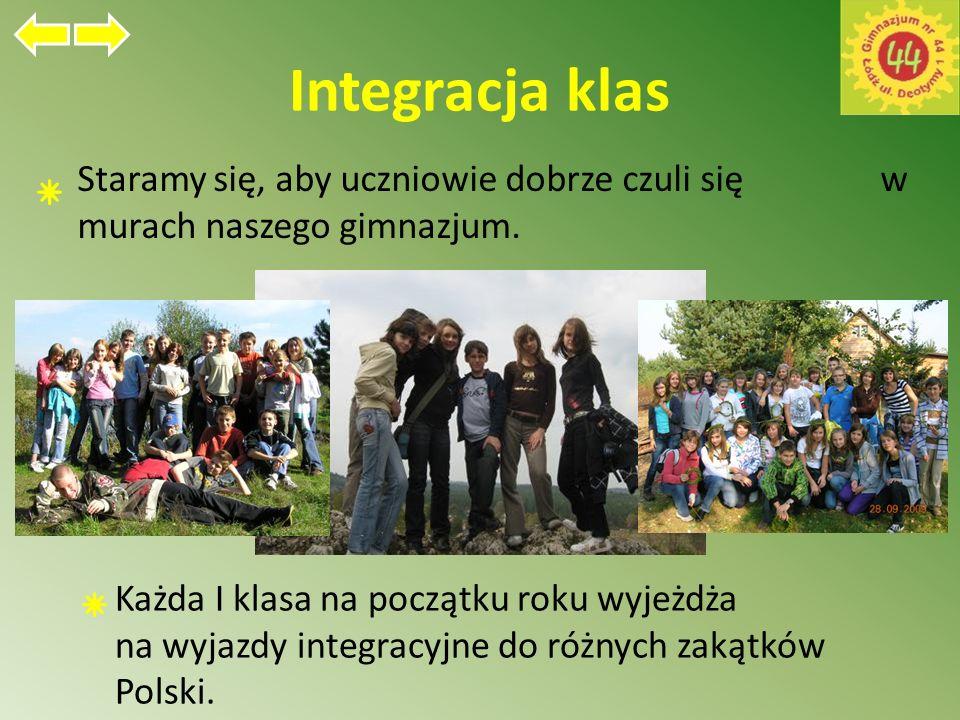Integracja klas Staramy się, aby uczniowie dobrze czuli się w murach naszego gimnazjum.